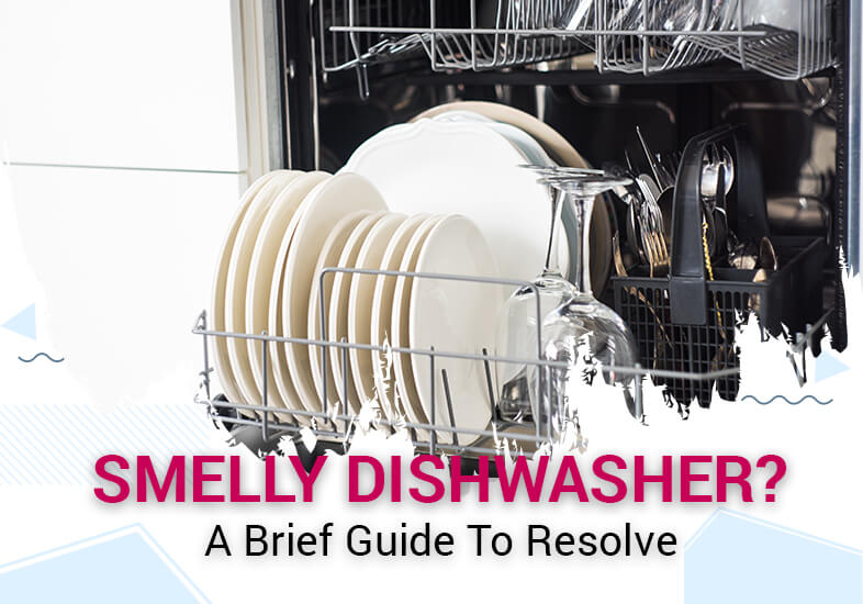 a detail guide about to clean smelly dishwasher